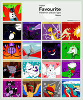 Aqua's pokemon meme UPDATED- Excluding Legends by Roses-and-Feathers