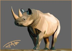 Black Rhino Speedpaint by Jats