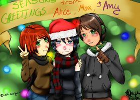 Merry Christmas. from Alice, Amy, and Max by pandapunk143