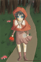 Red Riding Hood in the Wood by MissOne