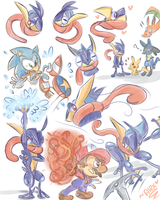GRENINJA MAKES A SPLASH by chibiirose