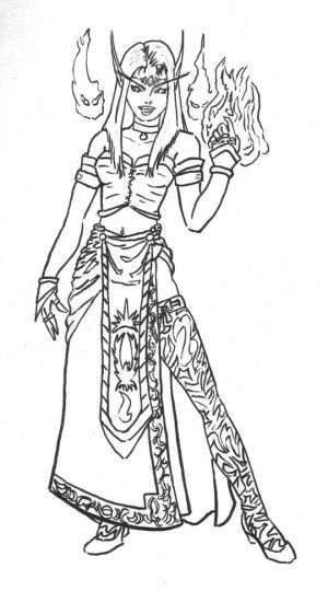 worldof warcraft coloring pages - photo#24