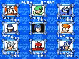 Mega Man 3 Menu - HD remake by theEyZmaster