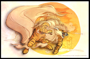 Arcanine the Fire Hound by kittykatmaniac