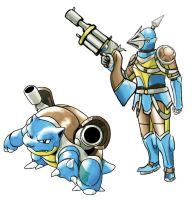 Pokemonster Hunter Blastoise 2 by tRickityhouses