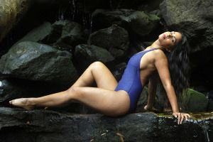 Saba - waterfall pose 1 by wildplaces