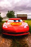 On the Farm with Lightening McQueen by red5