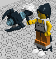 LEGO Digital Portal -- Chell by bonesiii