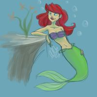 Ariel from The Little Mermaid by clarkey-lou
