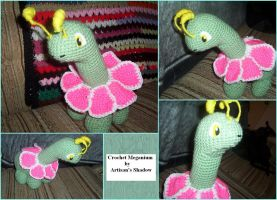 Crochet Meganium by ArtisansShadow