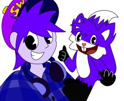 Request 15  Human Jakido and Jakido selfie by HTF-ADTI-MLP100606
