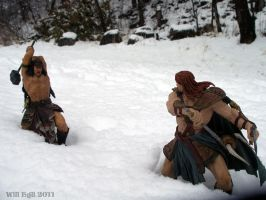 Barbarians fighting the the snow by SurfTiki