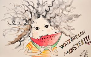 watermelon monster by pitagoras-dlrkn