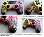 Custom Handpainted PS4 Controller by Laura-Bosley