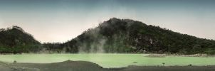 The Acid Lake - White Crater Panorama by Usayed