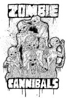zombie cannibals by ayillustrations