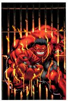 Red Hulk heats it up by EdMcGuinness