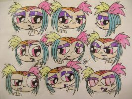 many expressions of creepie by Rayryan