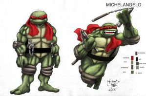 TMNT character study-Mike by scribblesartist