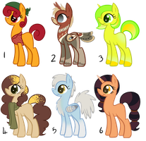 Female Pony Adoptables 2: OPEN (REDUCED PRICES) by theresamooseloose