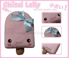 Chiisai Lolly the mini plushie by fuzzy-jellybeans