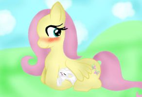 ~Fluttershy and Angel~ by XxTailsyTailsxX