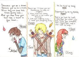Simon, Jace and Clary by Naii09