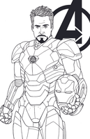 Tony Stark - Robert Downey Jr by JamieFayX