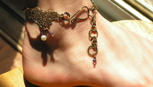 Angle Wing Anklet with Drops from Heaven by artistiquejewelry