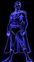 neon superman by AlanSchell