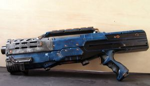 Blue Longshot with Underbarrel Gun Part 1 of 4 by DirectThreat