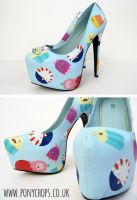 Adventure Time Candy Kingdom Stilettos by ponychops