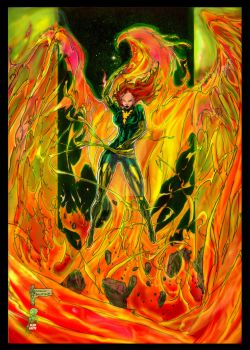 Dark Phoenix Rising Colors by pyroglyphics1