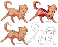Cat Bases by ghostgirlDiamond