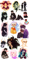 oh no massive homestuck dump by TwinklePowderySnow