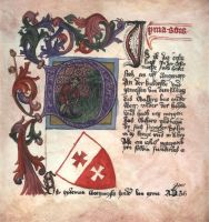A part of medieval book by Victoria-Poloniae