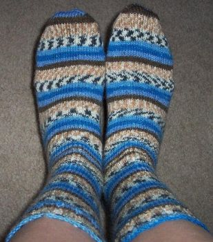 Earth, Water, and Sky Socks by InfiniteNesmith