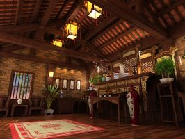 Asian worship space02 by crystalrain2702