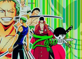 Zoro Collage by SkywalkerBlue