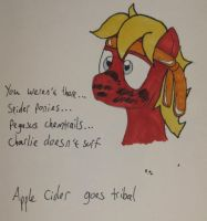 Apple Cider goes Tribal by IronBrony