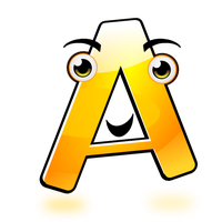 Smiley Alphabet - A (updated) by mondspeer