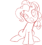 Pinkie Pie Line Art by MusicBrushLoveland