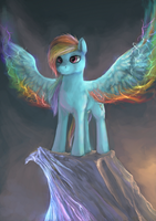 Rainbow Dash by ElkaArt