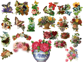vintage flowers by HaSiYnE