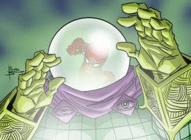 Mysterio + Spider-Man warm up by MBorkowski