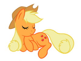 Sleeping AppleJack by FaithlessHyren