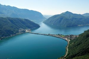 Lake Lugano causeway 1 by wildplaces
