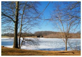 Cane Creek Lake In Winter by TheMan268