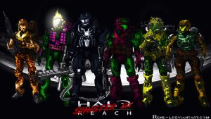 Halo Goes Marvel's Sinister Six by Rene-L
