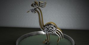 Bird calligraphy by iskander71